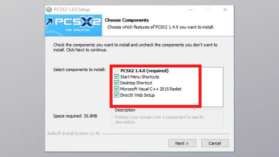 choose PS2 BIOS